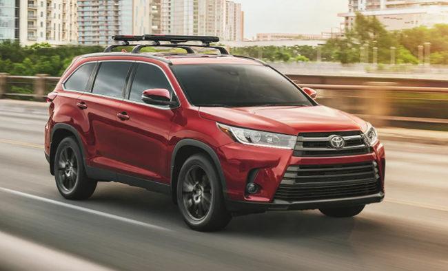 Toyota Highlander Suv Driveline Fleet Car Leasing Nz