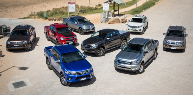 Eight Best Selling Dual Cab Utes