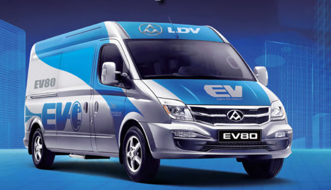 LDV V80 Electric Van for lease